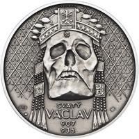 Relikvie Sv. Václava - vzor 2 - 1 Oz Ag patina