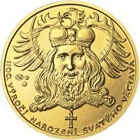 1100. výročí narození sv. Václava - zlatá 1 Oz b.k.