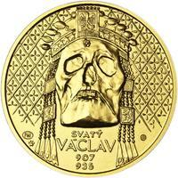 Relikvie Sv. Václava - vzor 2 -  1/2 Oz zlato b.k.