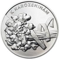 Vše nejlepší k narozeninám 25 mm stříbro b.k.