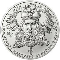 1100. výročí narození sv. Václava - stříbro 1 Oz b.k.