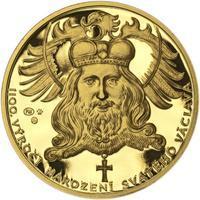 1100. výročí narození sv. Václava - zlatá 1 Oz Proof