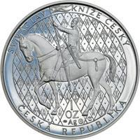 Sv. Václav na koni  - 1 Oz Ag Proof