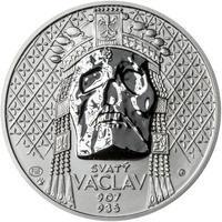 Relikvie Sv. Václava - vzor 2 - Ag malá REVERSE Proof