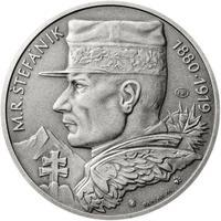 Milan Rastislav Štefánik - 28 mm stříbro patina