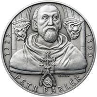 Petr Parléř - 28mm stříbro patina
