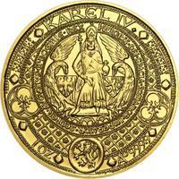 Nejkrásnější medailon II. - Královská pečeť zlato b.k.