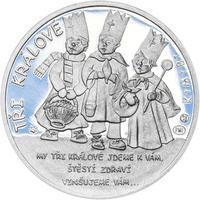 Tři králové 25 mm stříbro Proof