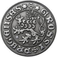 Pražský groš - 10 dukát Ag patina