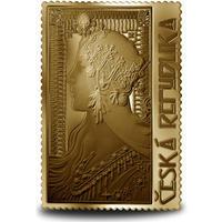 Medaile s motivem známky - Zrzka 1/2 Oz zlato