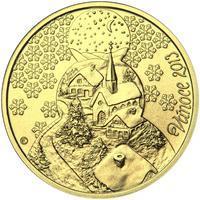Vánoce 25 mm zlato b.k.