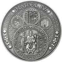 Nejkrásnější medailon III. Císař a král - 50 mm Ag patina