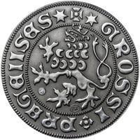 Pražský groš - 5 dukát Ag patina