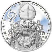 Čert a Mikuláš 50 mm stříbro Proof