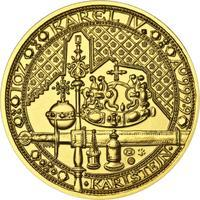 Nejkrásnější medailon IV. - Karlštejn zlato b.k.