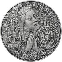 Nejkrásnější medailon I. Nové Město pražské - 50 mm Ag patina