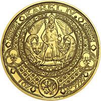Nejkrásnější medailon II. - Královská pečeť - 2 Oz zlato b.k.