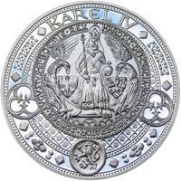 Nejkrásnější medailon II. - Královská pečeť - 50 mm Ag Proof
