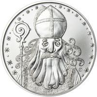 Čert a Mikuláš 25 mm stříbro b.k.