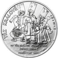 Tři králové 25 mm stříbro b.k.
