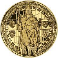 Proof - Pražské dukáty - 5 dukát - Prašná brána Au