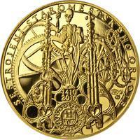 Proof - Pražské dukáty - 10 dukát - Staroměstský orloj Au