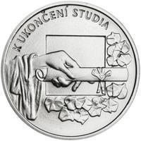 K ukončení studia 25 mm stříbro b.k.