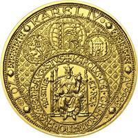 Nejkrásnější medailon III. Císař a král - 2 Oz zlato b.k.