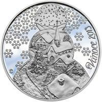 Vánoce 25 mm stříbro Proof