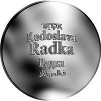 Česká jména - Radka - stříbrná medaile