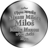 Česká jména - Miloš - stříbrná medaile