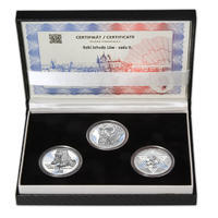 RABÍ JEHUDA LÖW – návrhy mince 200,-Kč - sada II. tří Ag medailí 34mm Proof v etui