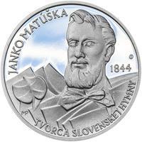 Nad Tatrou sa blýska - 28 mm stříbro Proof