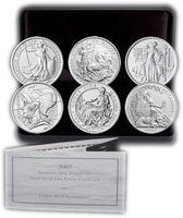 2007 Britannia 20th Anniversary Half Ounce Silver Set