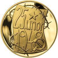 25. únor 1948 - 66. výročí od komunistického puče - 1/2 Oz zlato Proof