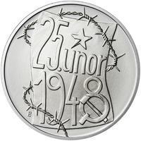 25. únor 1948 - 66. výročí od komunistického puče  - 1 Oz stříbro b.k.