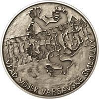 Vpád vojsk Varšavské smlouvy - 21. srpen 1968 -  1 Oz Ag patina
