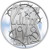 25. únor 1948 - 66. výročí od komunistického puče  - 1 Oz stříbro Proof