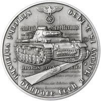 Vpád německých vojsk - 15. březen 1939 - 28 mm stříbro patina