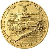 Vpád německých vojsk - 15. březen 1939 - 1 Oz zlato b.k.