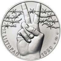 17. listopad 1989 - stříbro 1 Oz b.k.