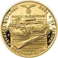 Vpád německých vojsk - 15. březen 1939 - 1/2 Oz zlato Proof