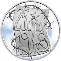25. únor 1948 - 66. výročí od komunistického puče  - 28 mm stříbro Proof