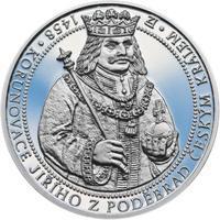 550 let od korunovace Jiřího z Poděbrad českým králem - stříbro Proof