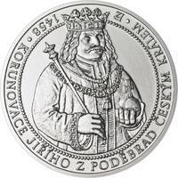 550 let od korunovace Jiřího z Poděbrad českým králem - stříbro b.k.
