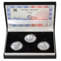 JIŘÍ TRNKA – návrhy mince 500 Kč - sada tří Ag medailí 34 mm Proof v etui
