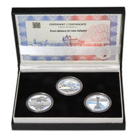 JAN KAŠPAR – návrhy mince 200 Kč - sada tří Ag medailí 34 mm Proof v etui