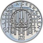 České mince - stříbrné