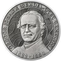 Johan Gregor Mendel - stříbro patina