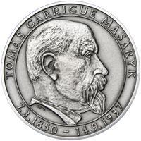 70 let od úmrtí Tomáše Garrigue Masaryka - stříbro patina
